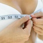 women shows which size of the breast she would like to have