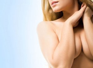 woman after breast enlargement in Poland