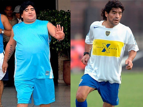 maradona before and after